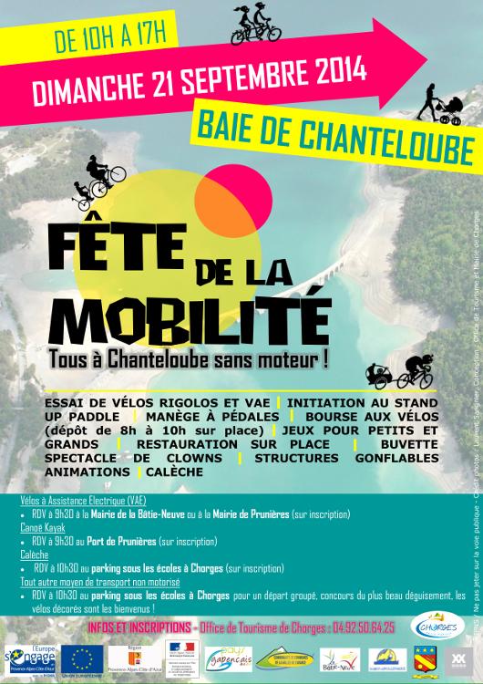 Affiche Fête de la mobilité Chanteloube - 21 septembre 2014