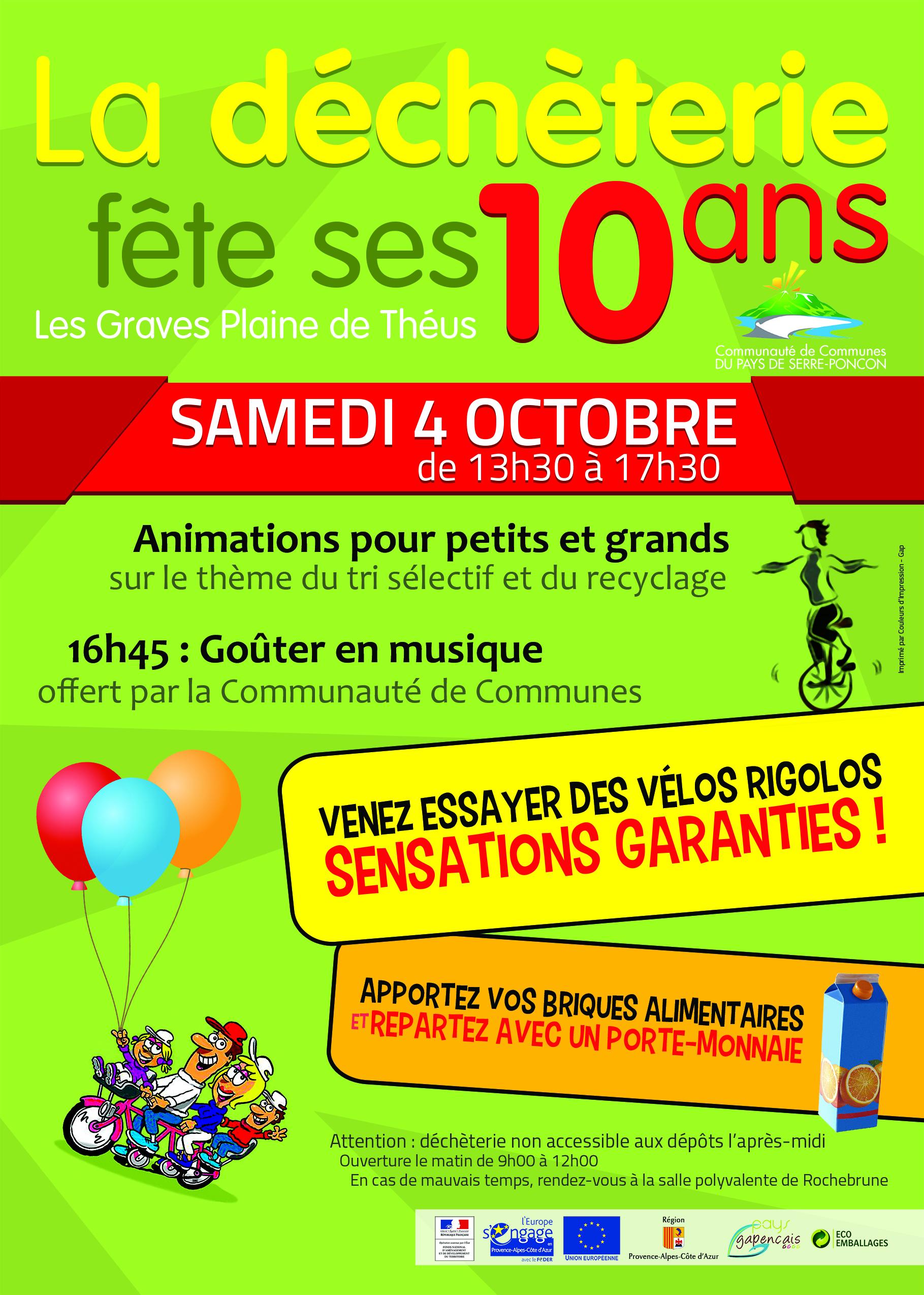 flyer fête de la déchetterie Pays de Serre-Ponçon - recto