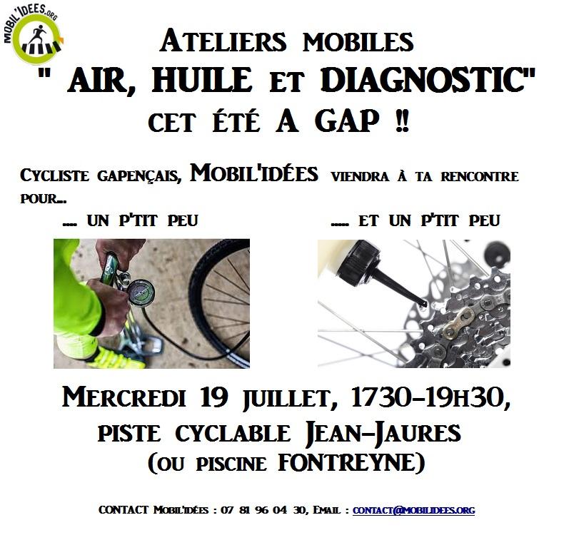 «Air, huile et diagnostic» – 2ème session mercredi 19 juillet