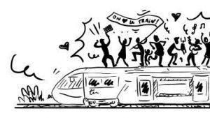 Mobilisation (à vélo!) pour le train samedi 9 novembre à 11h au rond-point du Cèdre!
