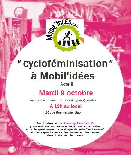 Cycloféminisation à Mobil'idées – acte II !