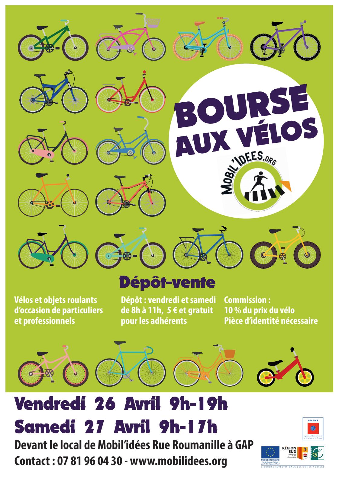 Bourse aux vélos de printemps les 26 et 27 avril !