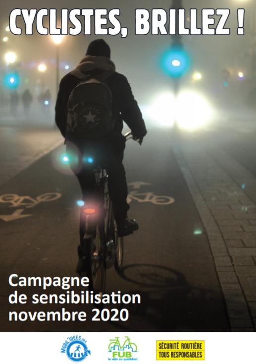 «Cyclistes, brillez !», pour être vus à vélo !